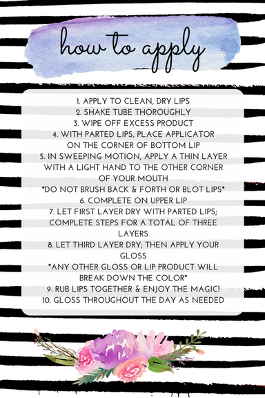 lipsense instructions cards free printables its simply