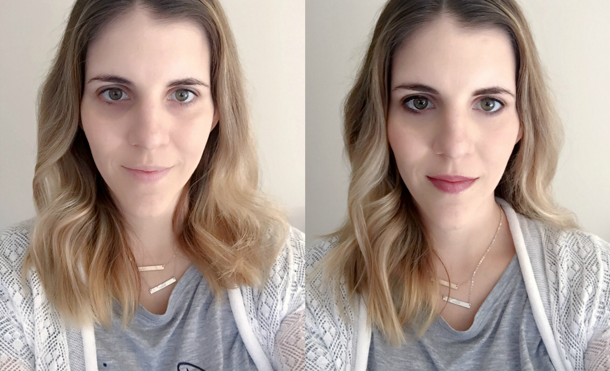 before after daily face